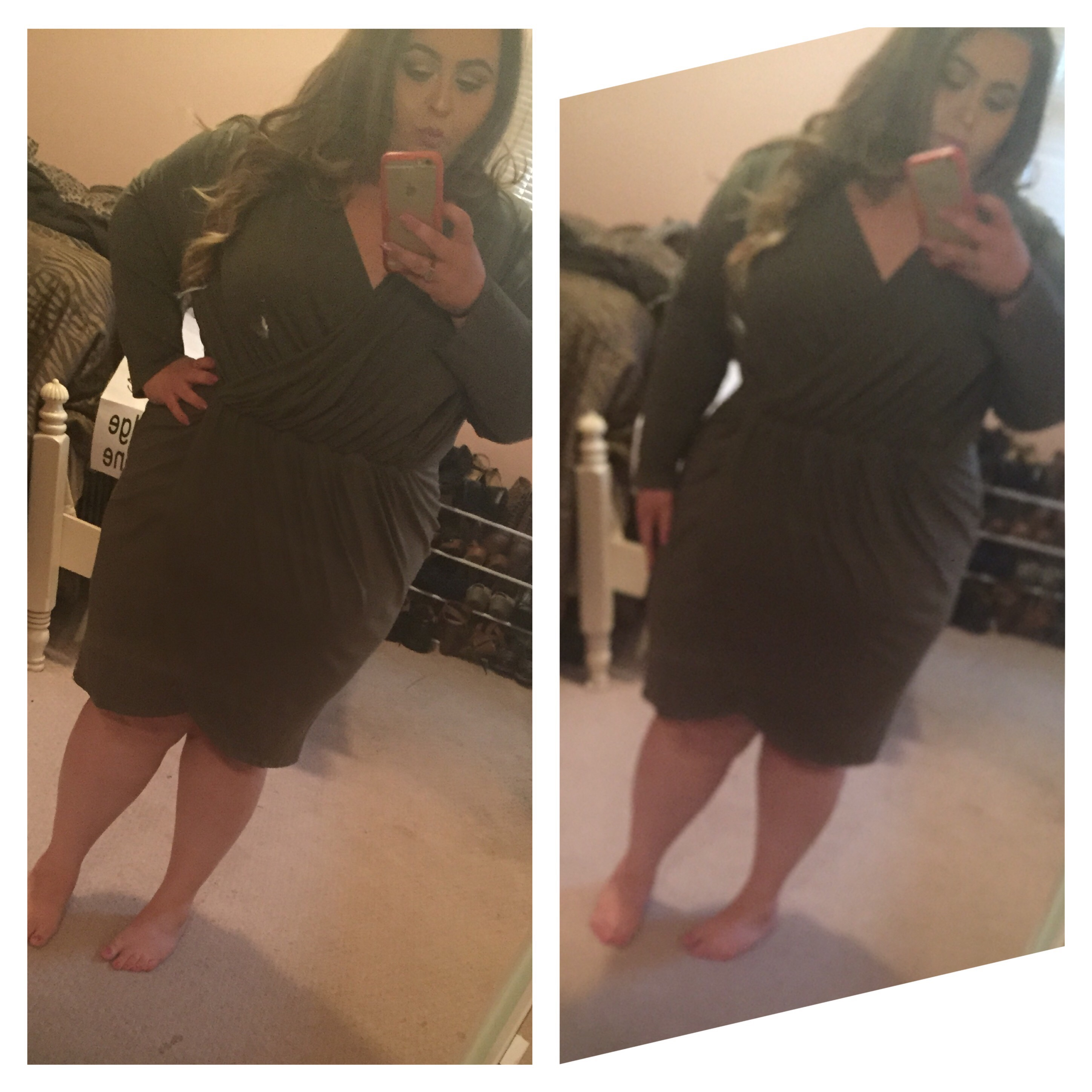 Olive Green Wrap Dress Forthelifeofmakeup